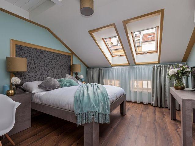 Une belle chambre d'hôtel à Prague