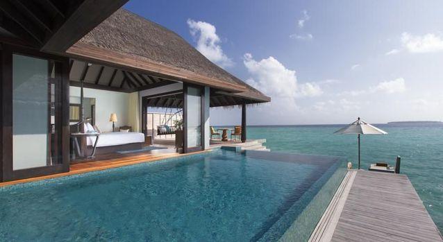 Une villa de luxe aux Maldives