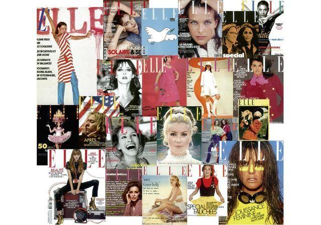 70 ans de couvertures de ELLE exposées sur les Champs-Elysées