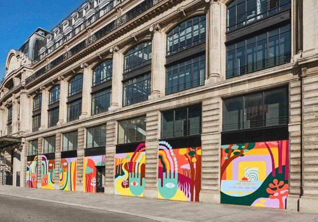 Confinement : Louis Vuitton diffuse un message d'optimisme dans Paris