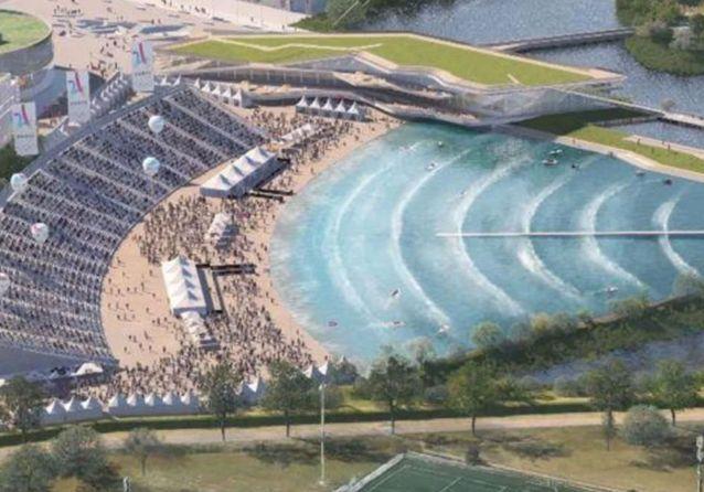 Une piscine à vague