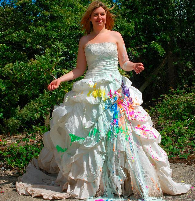 Trash the dress : haute en couleur !