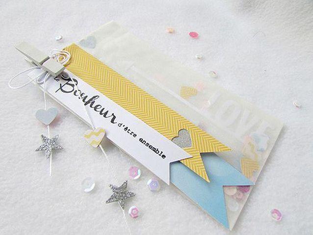 Carte Saint-Valentin confettis