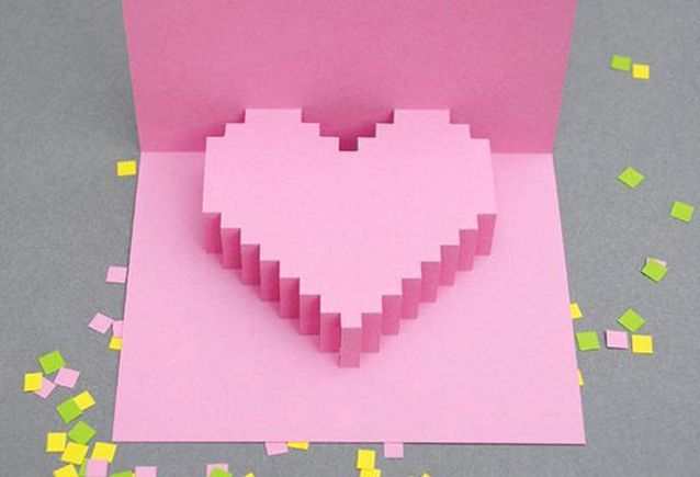 Carte Saint-Valentin en relief