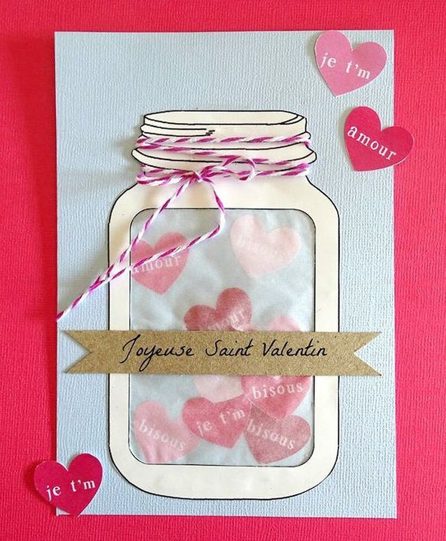 Carte Saint-Valentin girly