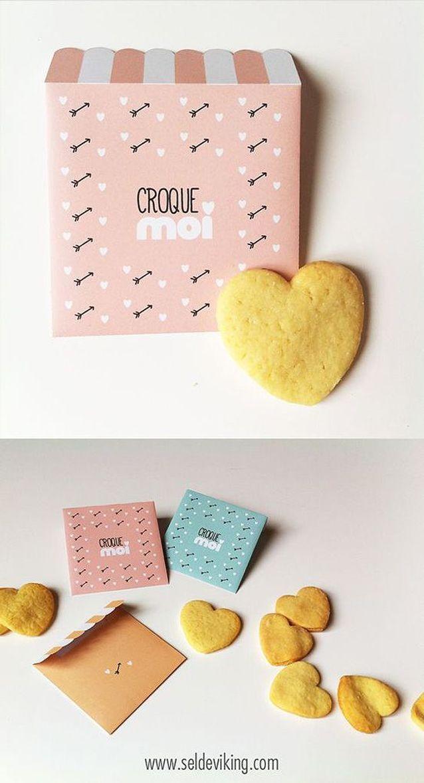 Carte Saint-Valentin gourmande