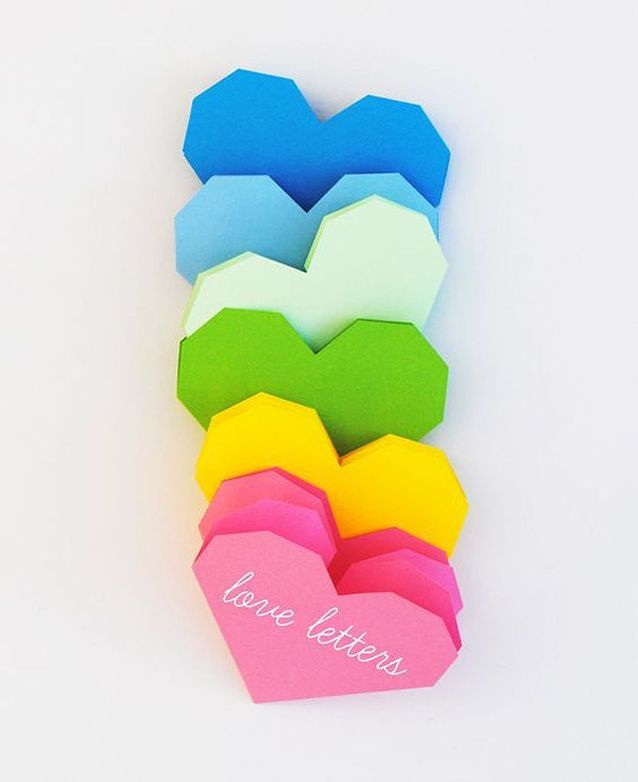 Carte Saint-Valentin origami