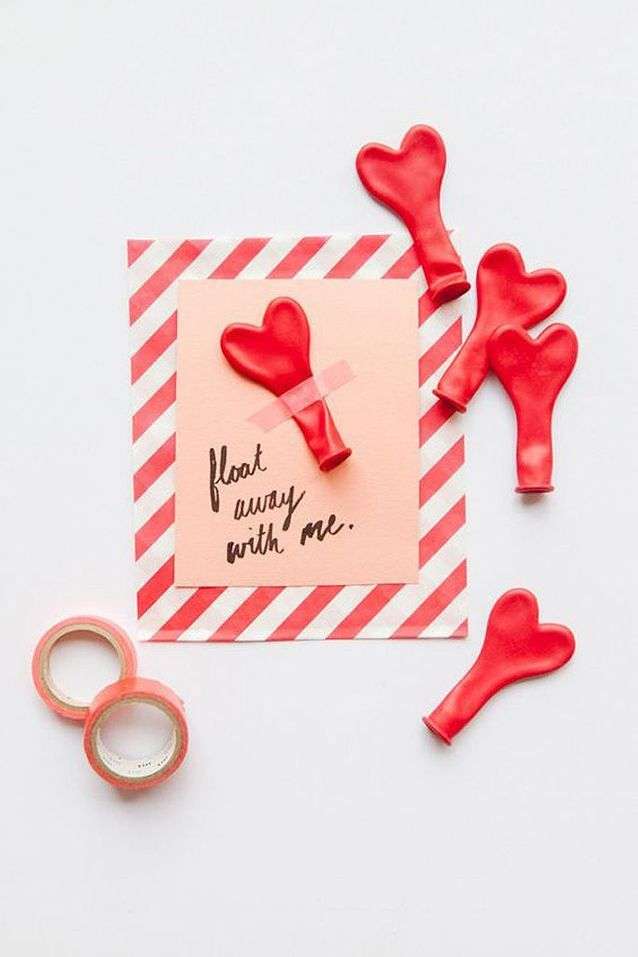 Carte Saint-Valentin rouge