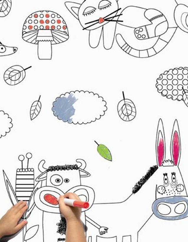 Papier Peint +á Colorier Les Contemplatives