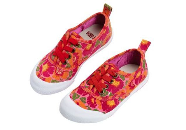 Baskets motif fleurs Kenzo Kids