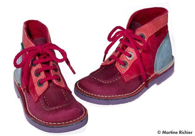 dernière sélection énorme inventaire photos officielles Chaussures montantes en croûte de cuir Kickers - Mode enfant ...