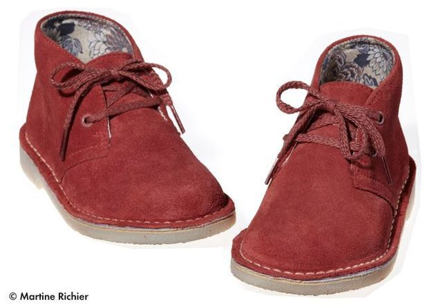Chaussures montantes en suède Clarks