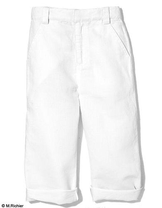 Pantalon en lin et coton, Marcel et Léon