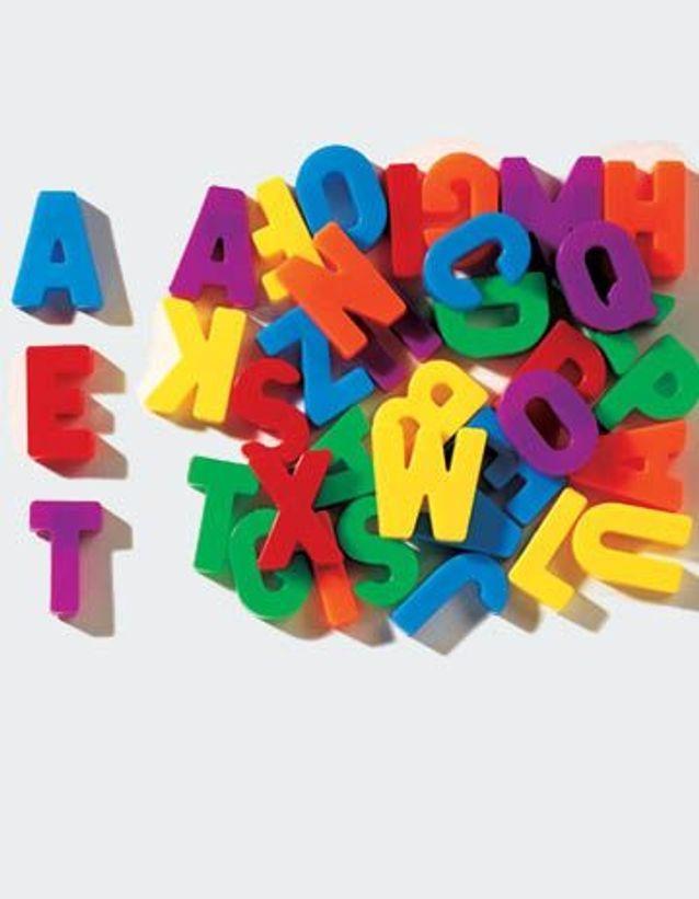 Les lettres aimantées