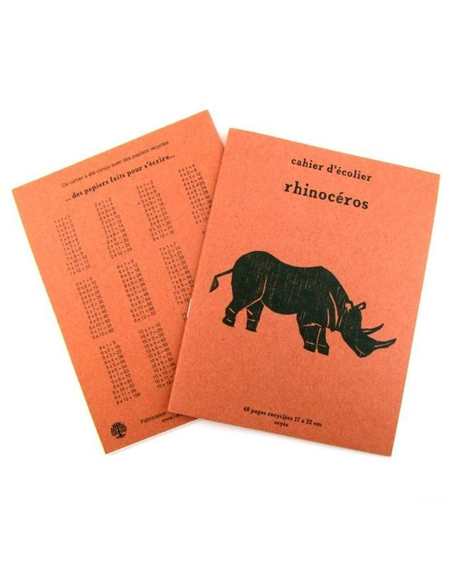 Cahier écolier Recyclé Rhinocéros