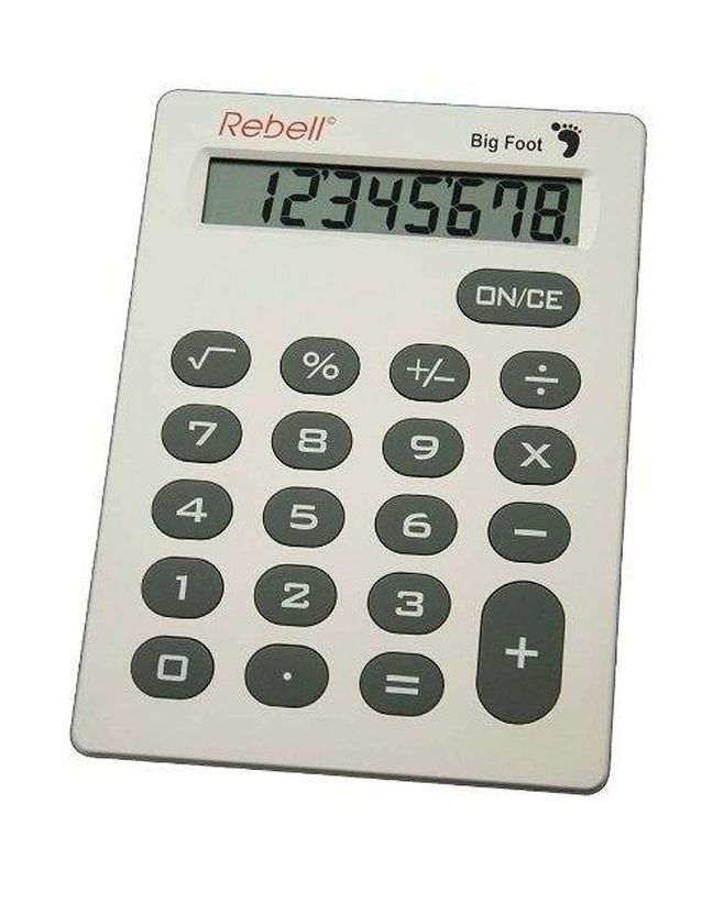 Calculatrice Grande Dimension XXL, Rebell, Chez Amazon