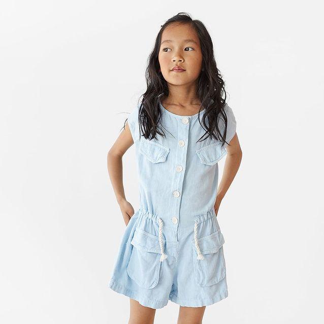 Combinaison en jean à cordon soldée Zara