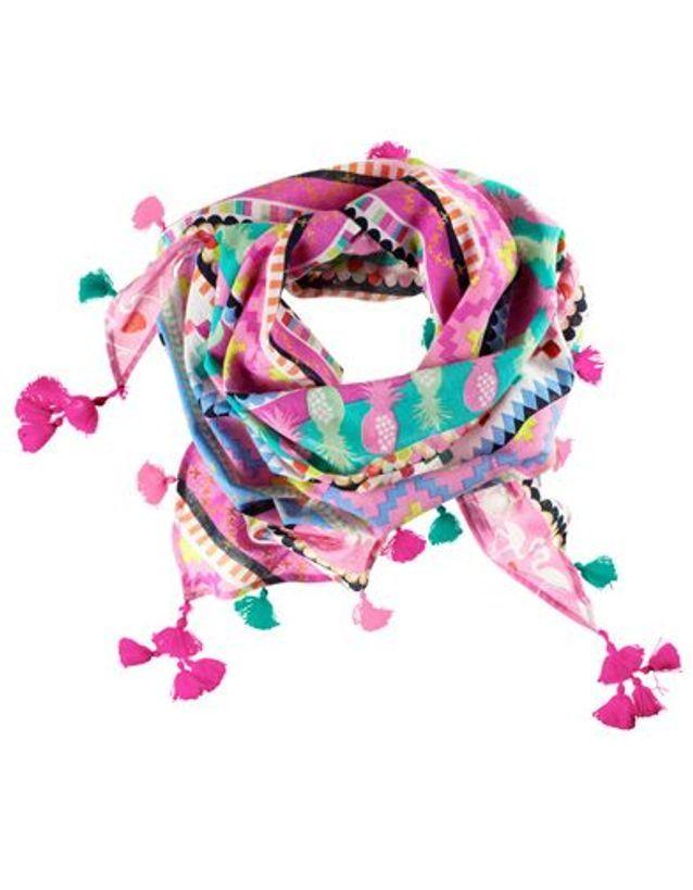 Foulard tissé avec franges décoratives H&M