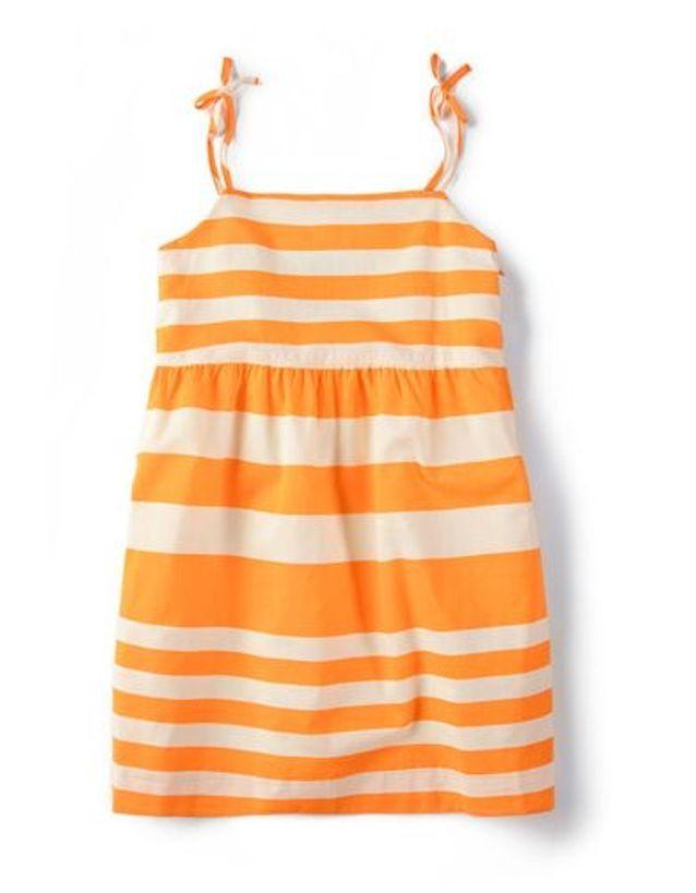 Robe à rayures orange Zara