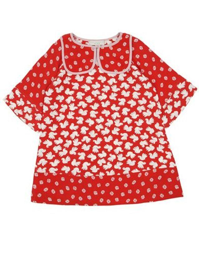 Robe imprimée rouge Ingrid Stella McCartney