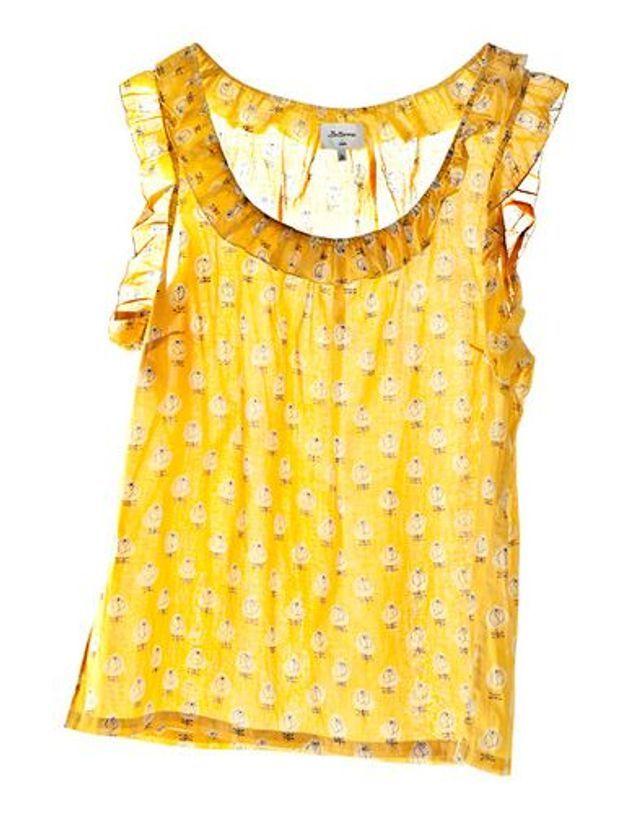 Top transparent jaune Bellerose
