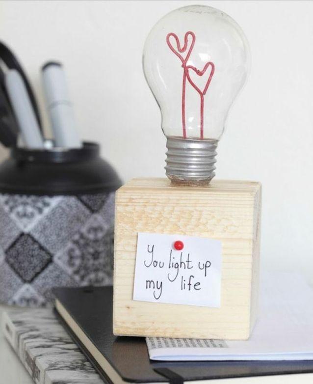 Bricolage fête des mères d'un cœur en décoration