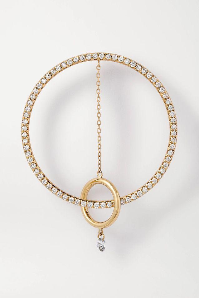 Boucle d'oreille en or et diamants Persée