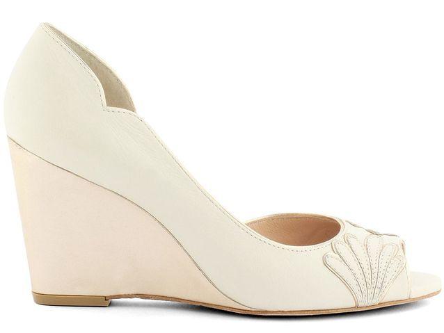 Chaussure de mariée à talon compensé Elise Hameau x Cosmoparis printemps été 2015