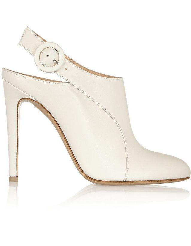 Chaussure de mariée blanc cassé Altuzarra printemps été 2015
