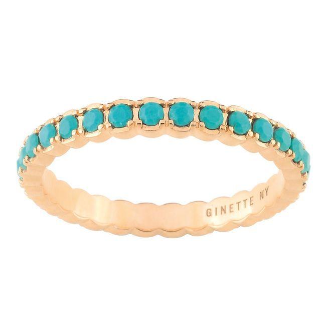 Alliance originale avec turquoises Ginette NY