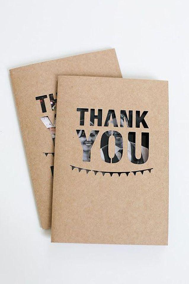 Carte de remerciement en kraft
