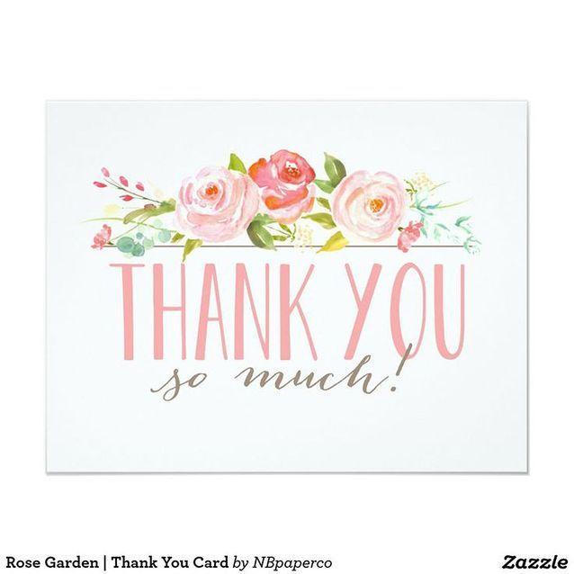 Carte de remerciement fleurie