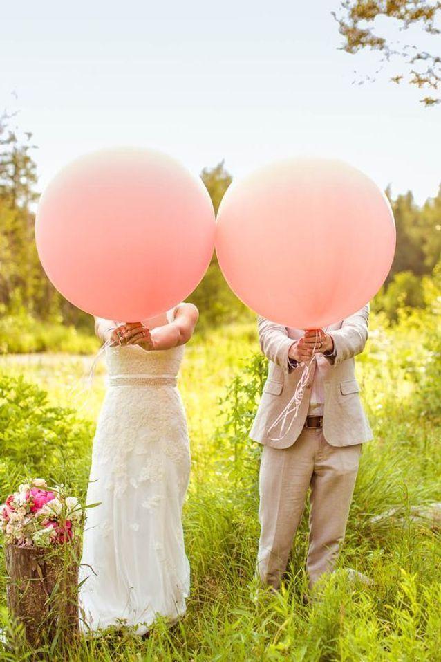 Animation de mariage bohème avec lâché de ballon