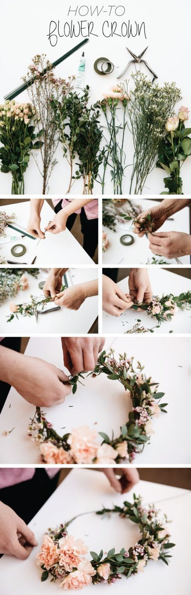 Animation de mariage de création de couronnes de fleurs