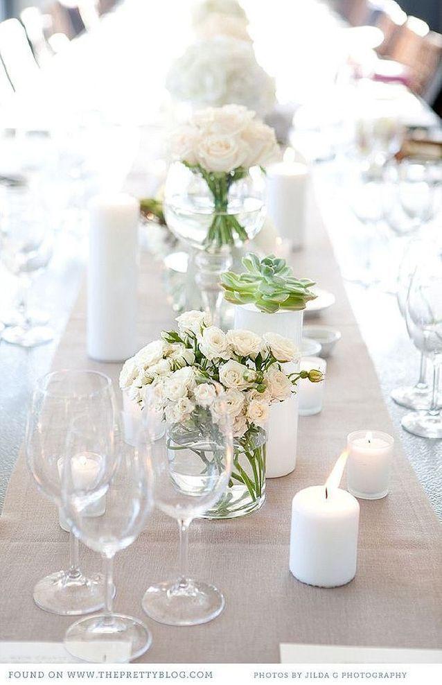 Bouquet de fleurs blanches chic