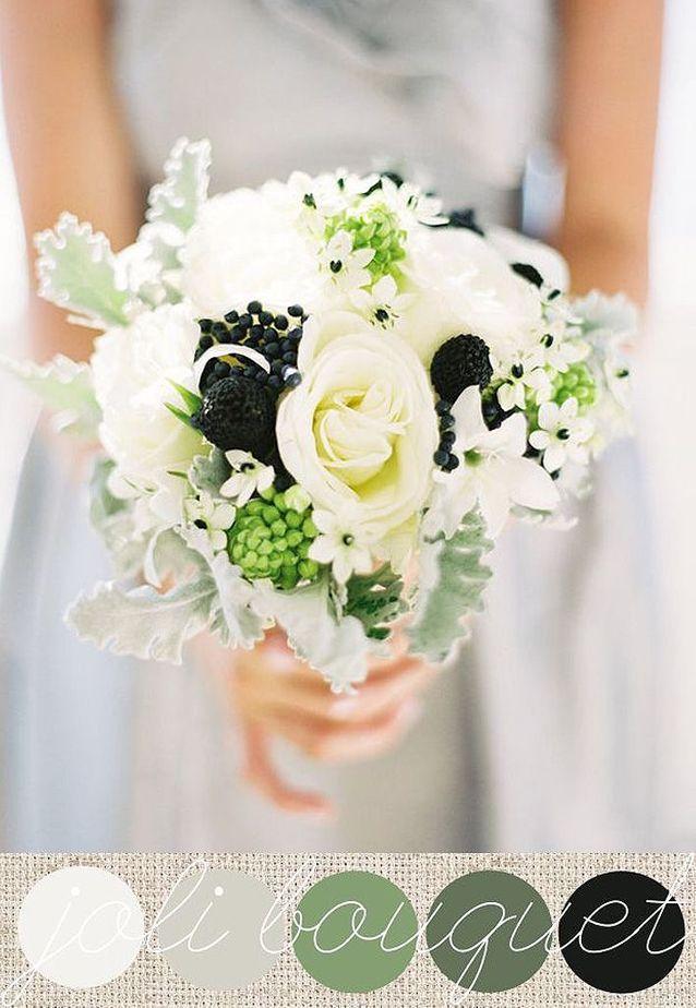 Bouquet de fleurs blanches et noires
