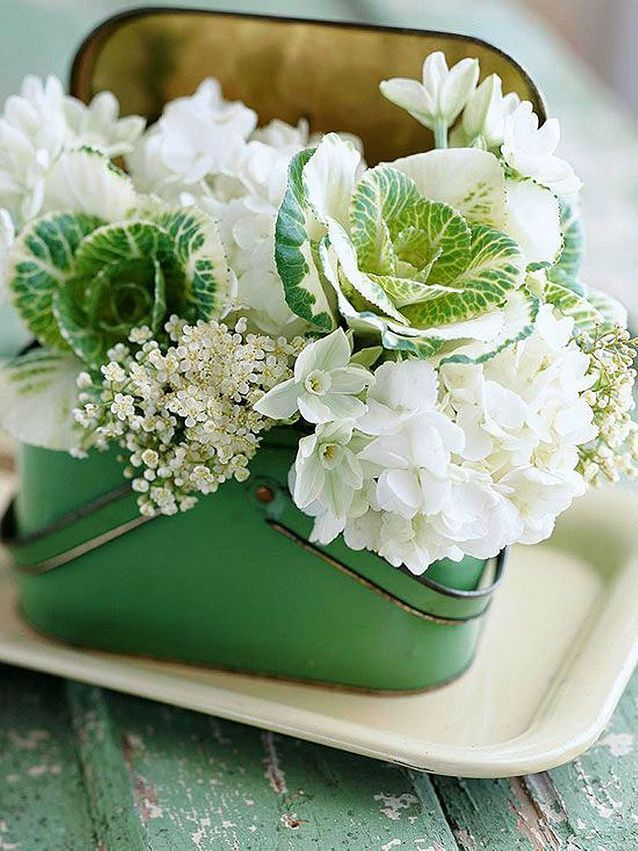 Bouquet de fleurs blanches original
