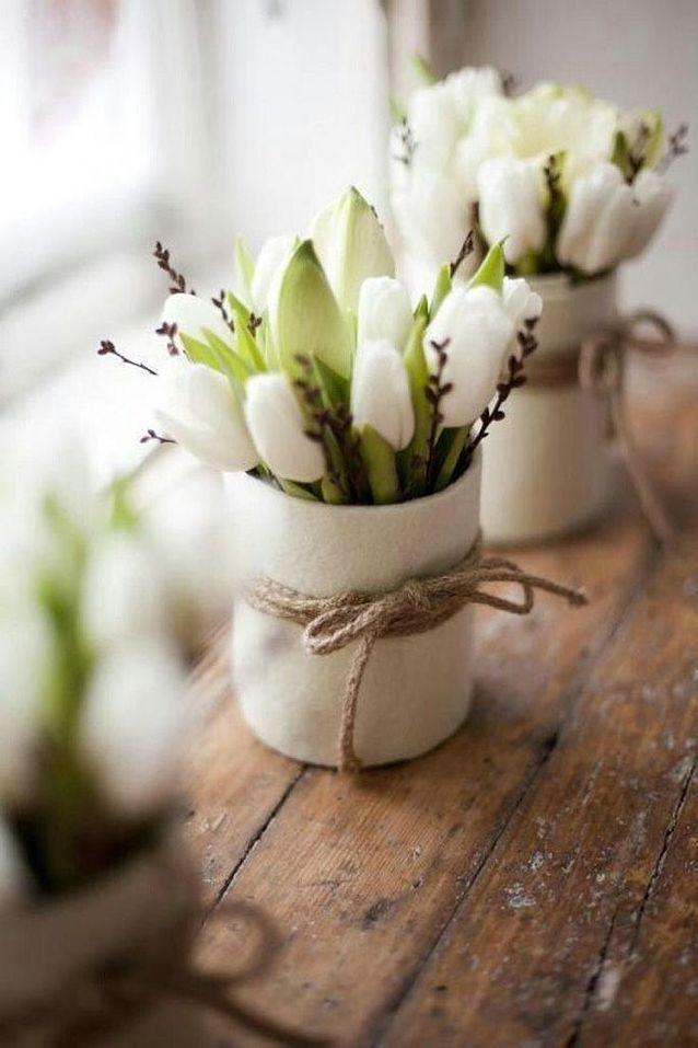 Bouquet de Fleurs blanches pour un mariage tendance