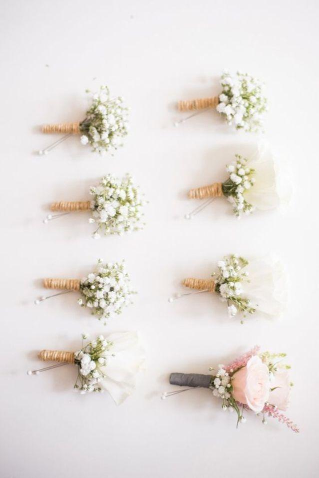Bouquet de roses pour boutonnière