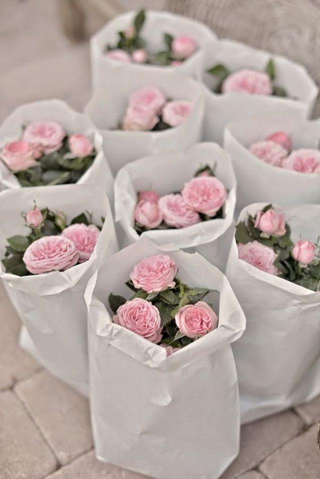 Bouquet de roses pour un mariage