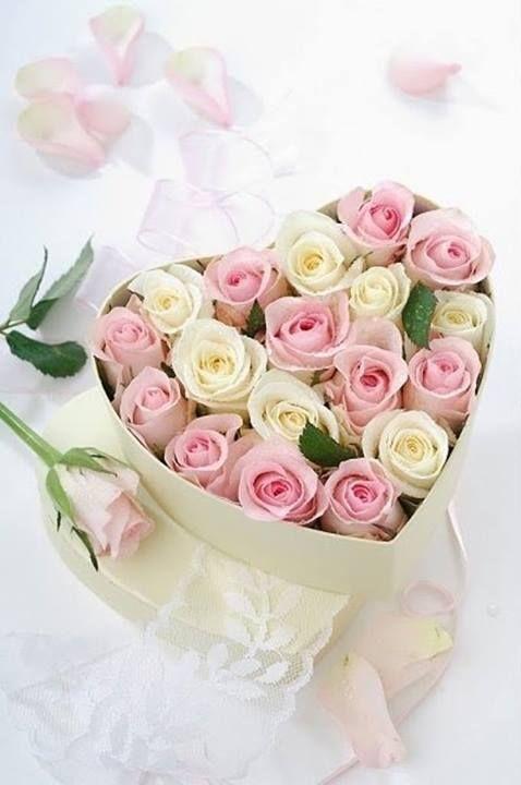 Bouquet de roses rose et blanc