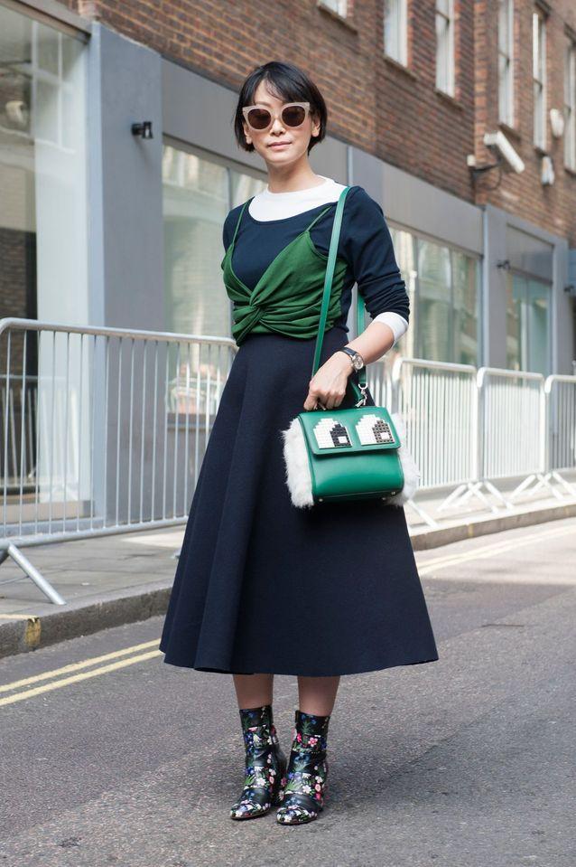 Une robe couture + des bottines à fleurs