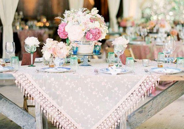 Les décorations de tables de mariage qui font de l'effet