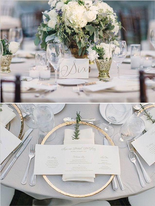 Décoration de table de mariage chic