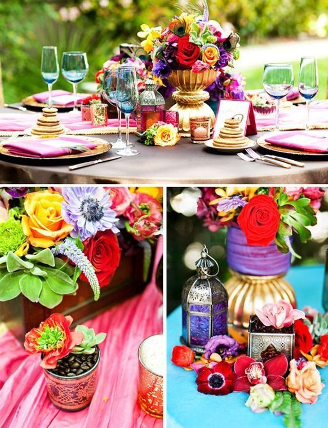 Décoration de table mariage indien