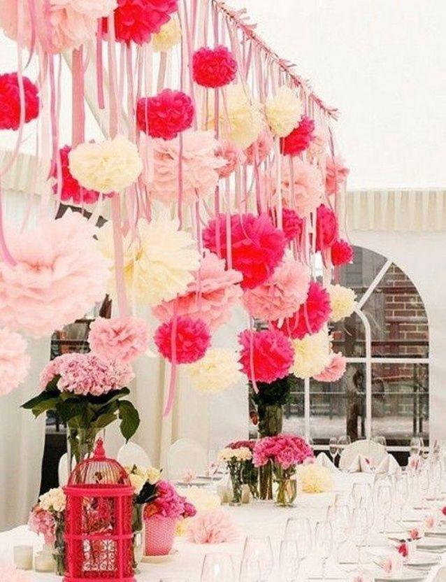 Décoration de fête rose