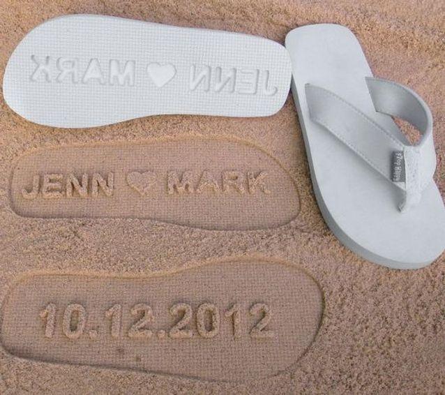 Des cadeaux de mariage personnalisés pour la plage