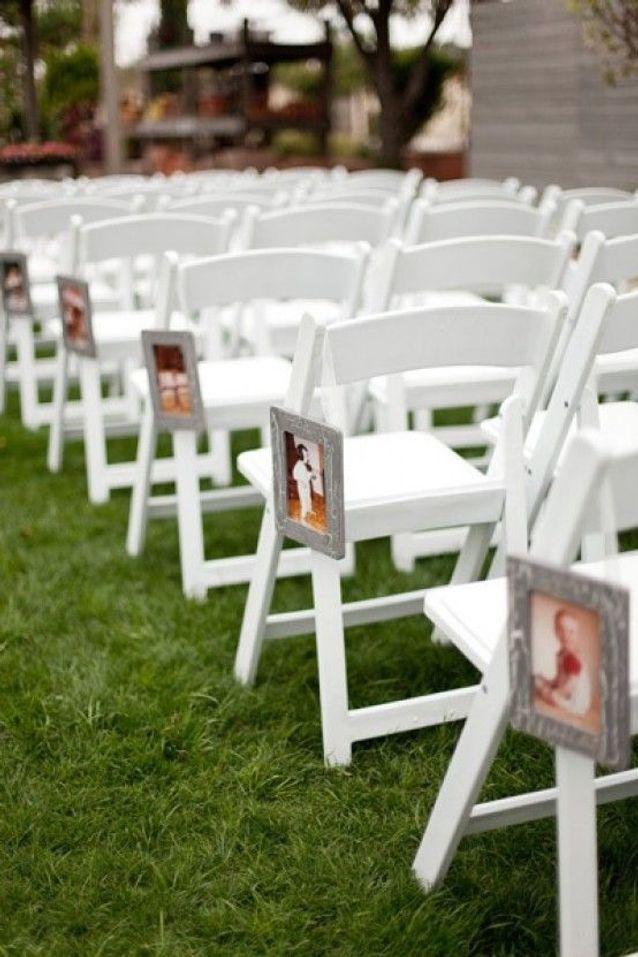 Chaise de mariage avec photo
