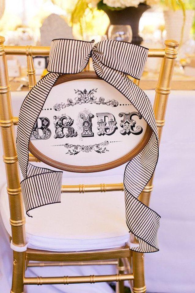 Chaise de mariage baroque