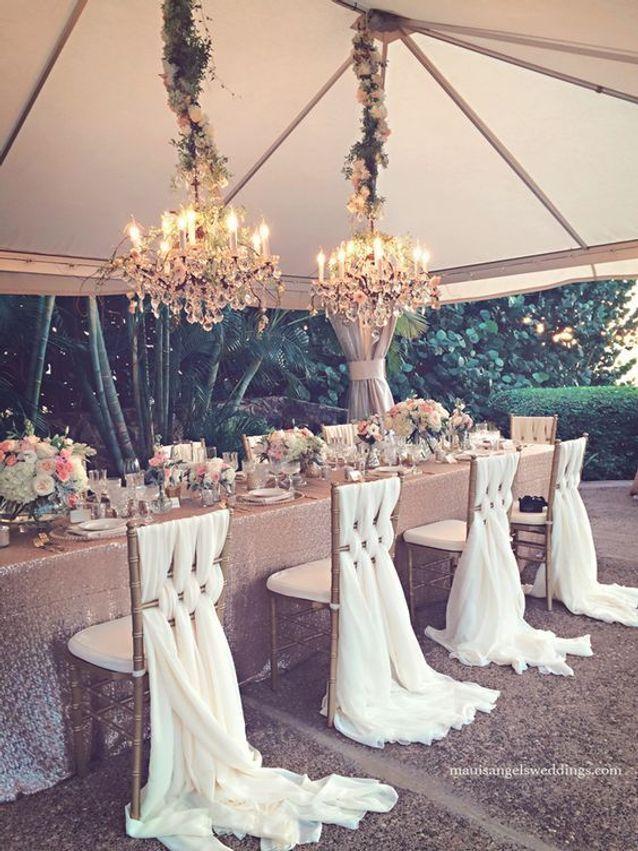 Chaise de mariage blanche